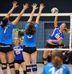 Am starken Dormagener Block scheiterten die Damen aus Leverkusen immer wieder